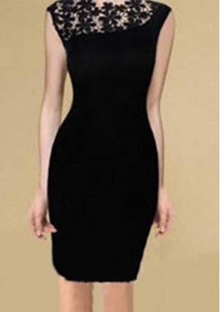 Lace Stretchy Bodycon Pencil Dress
