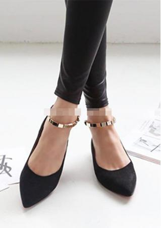 Buckle Pointy Toe Shoes