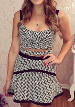 SleevelessTwo-Piece Dress