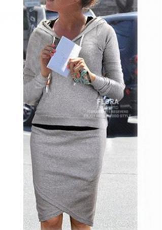 Irregular Pullover Two-Piece Dress