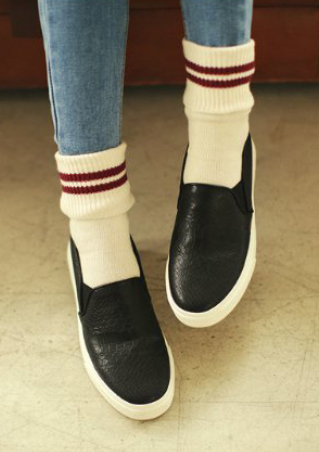 PU Slip On Sneakers