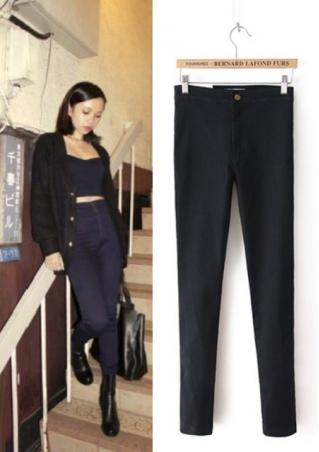 High Waist Denim Skinny Pants