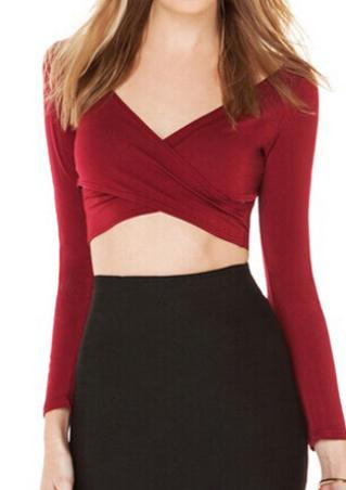 Fold Cross Crop Top