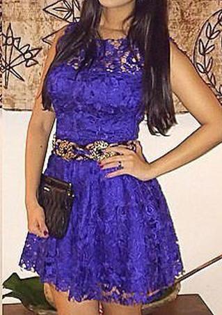 Lace A-Line Party Dress