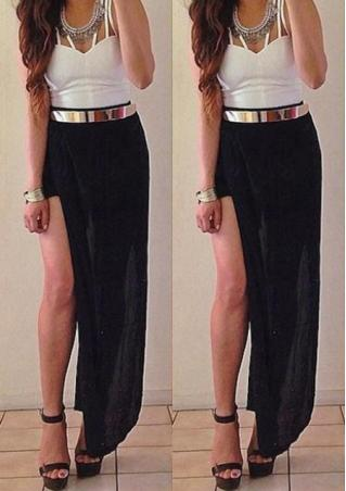 High Waist Split Maxi Skirt