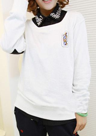 Long Sleeve Printed Sweatshirt