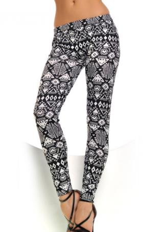One Size Floral Tribal Stretchy Leggings