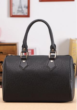 Solid Color PU Leather Handbag