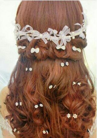 Mini Rhinestone Plum Flower Hairpin
