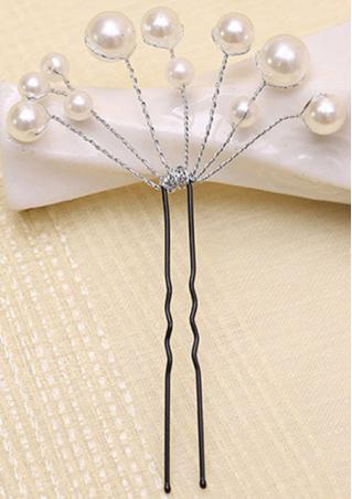 Faux Pearl U Shape Hairpin