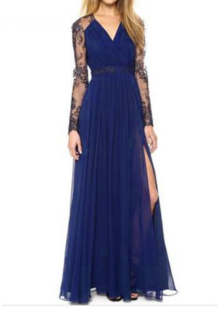 Lace Long Sleeves Maxi Dress