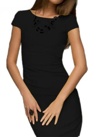 One Size Short Sleeve Bodycon Dress