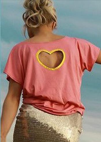 hollow heart t-shirt