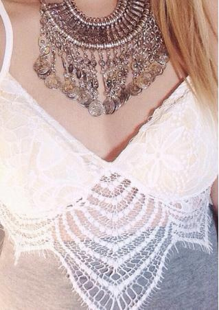 Sleeveless Lace Crop Top