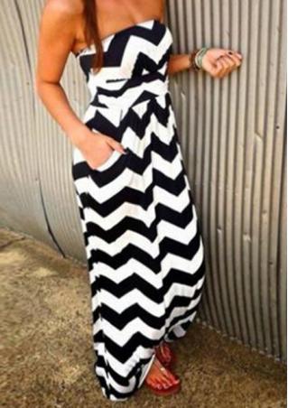 Off The Shoulder Striped Maxi Dress