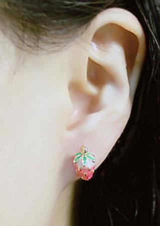 Mini Strawberry Ear Stud