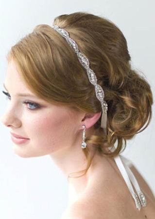 Rhinestone Applique Ribbon Headband