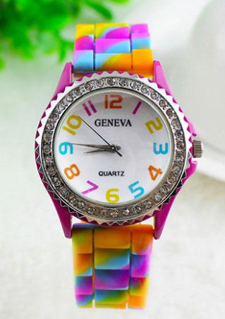Silicone Diamante Jelly Strap Watch
