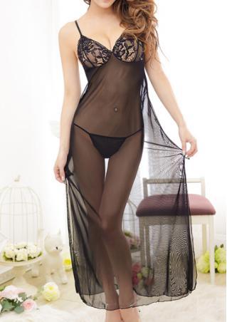 One Size Lace Babydoll Nightdress