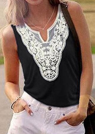 Lace V Neck Cami Tank