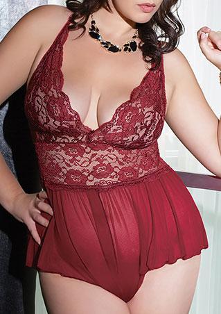 One Size Lace Chiffon Lingerie