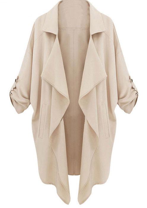 long sleeve casual pockets coat