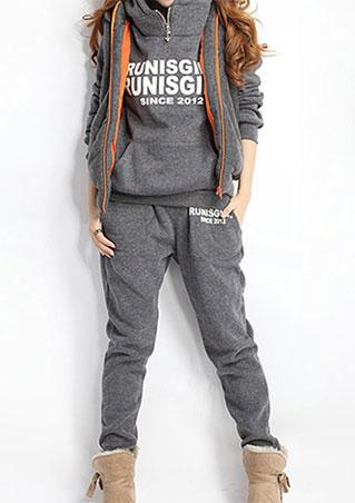 Letter Print Hoodies Tracksuits
