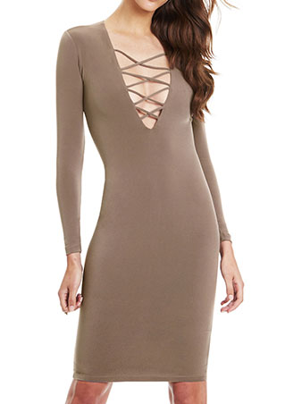 cross long sleeve dress
