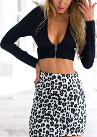 Zip Backless Crop Top