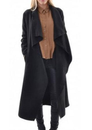 Lapel Solid Coat