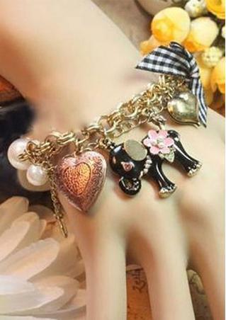 Elephant Pendant Bead Chain Bracelet