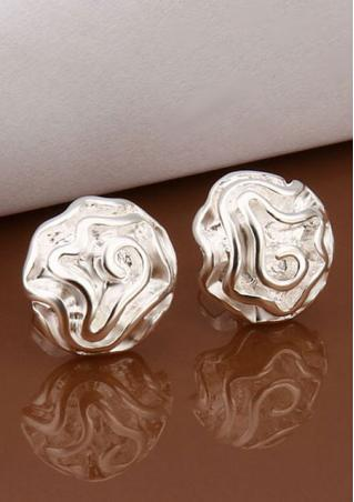 Rose Flower Shape Ear Stud