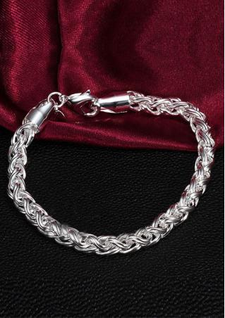 Alloy Twisted Bracelet