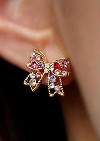 Imitated Crystal Bowknot Earrings