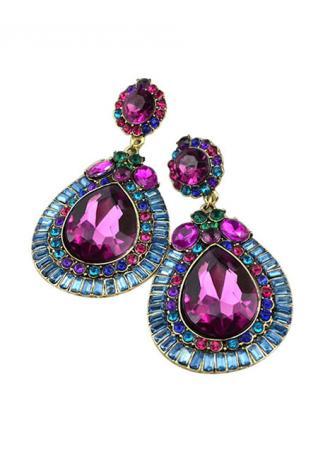 Shiny Crystal Celebrity Drop Dangle Earrings