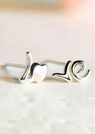 Alloy Heart LOVE Ear Stud