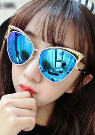 Oversized Frame Cat Eye Sunglasses