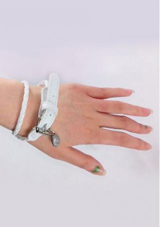 Unisex Leather Buckle Braided Bracelet