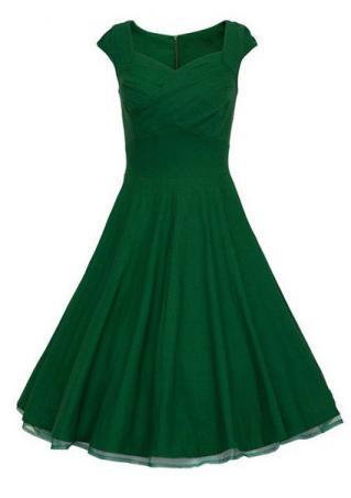 Sleeveless Solid Mini Party Dress