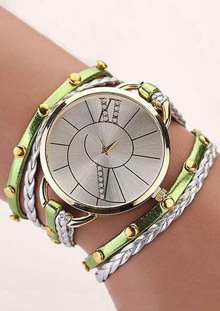 Wrap Rivet Leather Wrist Watch