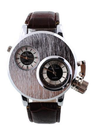 Stainless Steel Quartz Analog Wristwatch