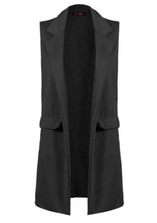 Sleeveless Lapel Coat