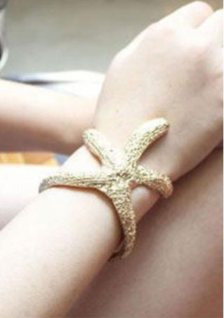 Hollow Out Starfish Bracelet Bangle