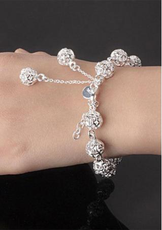 Hollow Ball Alloy Bracelet
