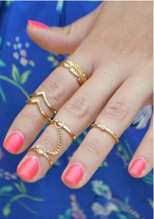 6 Sets Knuckle Rings