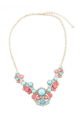 Flower Imitated Crystal Necklace