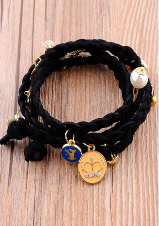 Hand-Woven Leather Cord Multilayer Bracelet