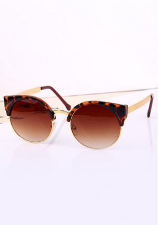 Round Leopard Print Sunglasses