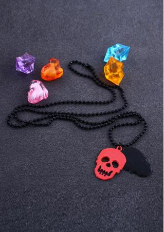 Punk Skull Head Necklace