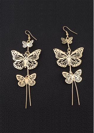 Butterfly Long Dangle Earring